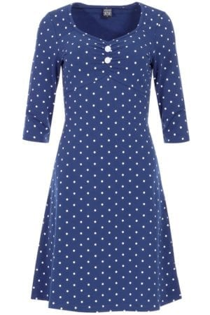 June dress Navy dot
