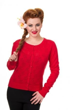 Cardigan crochet cherry