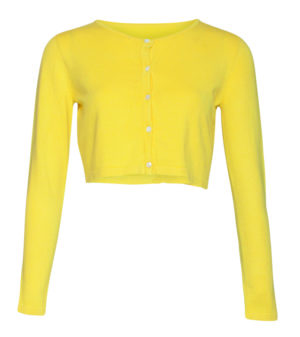 Audrey cardigan short, yellow