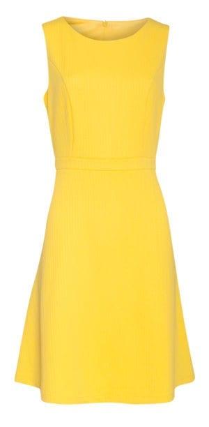 Dress Simple retro yellow