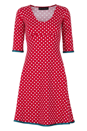 Stella Dress Dot Red/Petroleum