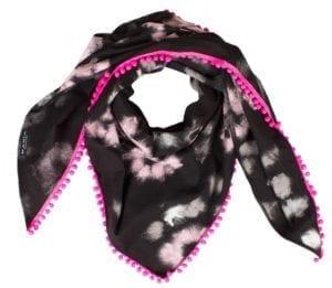 Tørklæde Blush Wool Pink Pom Pom