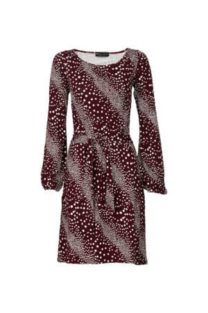 Laila dress Burgundy dots