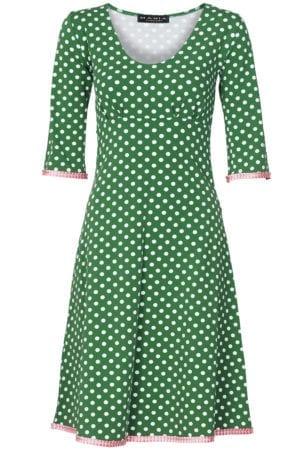 Stella dress dot green/babypink