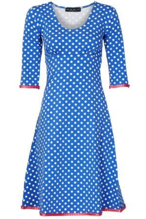 Stella dress dot Blue/Pink