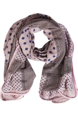 Tørklæde Multi Pattern Rosa