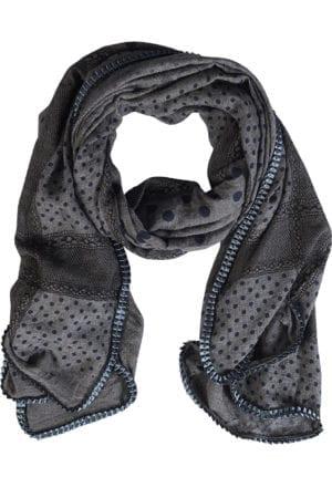 Tørklæde Multi Pattern Grey