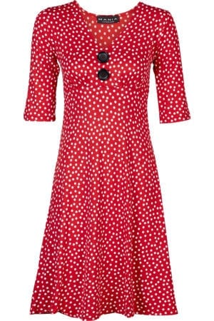 Bibbi Dress Red White Dotty