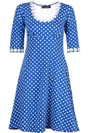 Yvonne dress dot Blue
