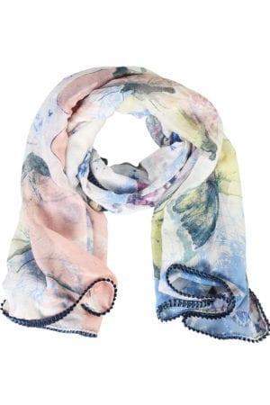 Tørklæde Blue Art