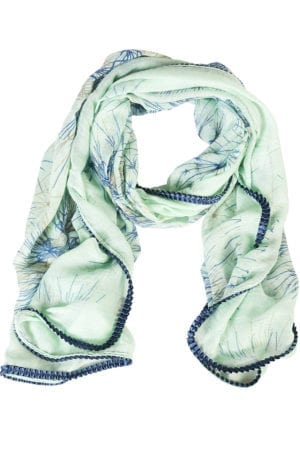 Tørklæde dandellion Mint/blue