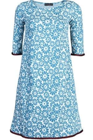 Agnes Retro Flower Turquoise