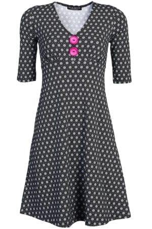 Bibbi dress Molecule Pink Button