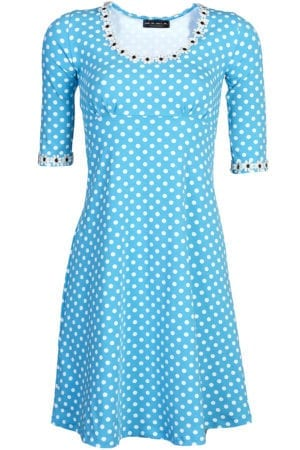 Yvonne dress dot Turquoise
