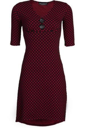 Pin-up dress winter Red Dot  m/æ
