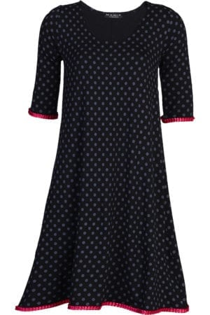 Alice Dress Black/Grey Dot