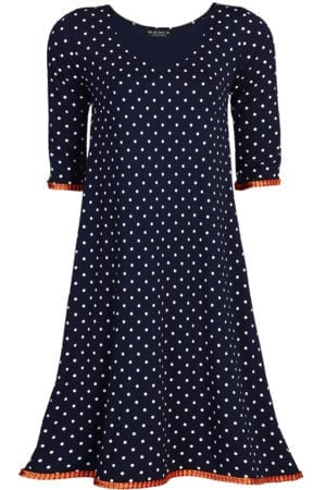 Alice Dress Navy/White Dot
