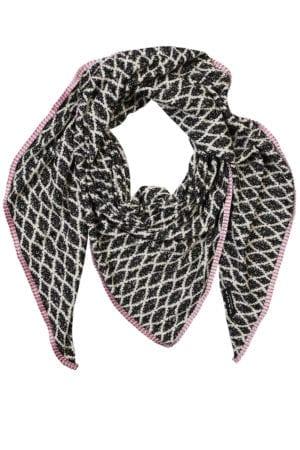 Oversize scarf Harlekin Rose