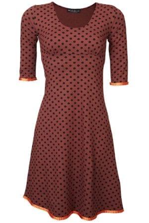 Stella Dress Orange black dot