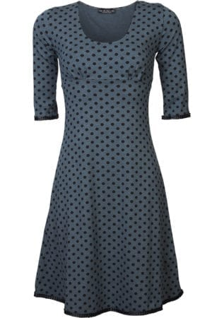 Stella Dress Blue black dot