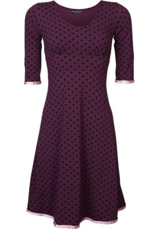 Stella Dress Cherise black dot