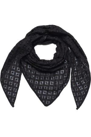 MANIA Oversize scarf lace black/black