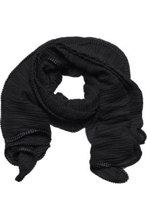 MANIA Tørklæde Pliss total Black