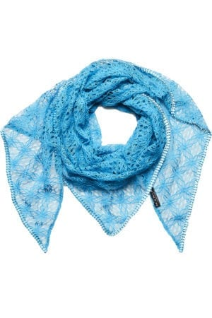 MANIA Oversize scarf lace blue light blue