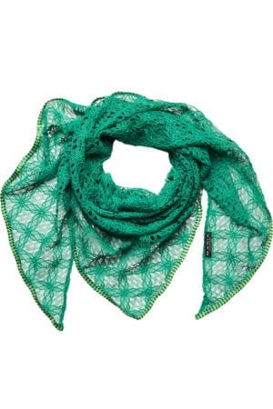 MANIA Oversize scarf lace green/ green