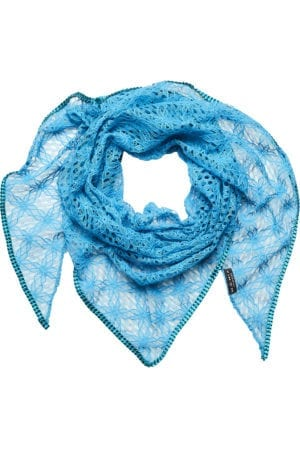 MANIA Oversize scarf lace blue/petrol