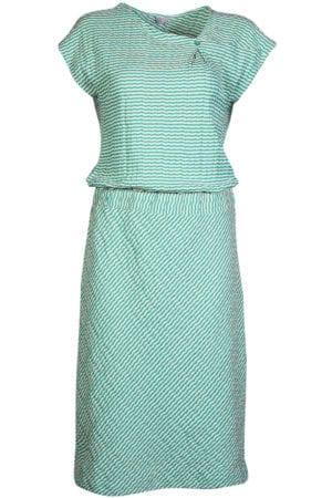 WTG Oblique dress green stripe