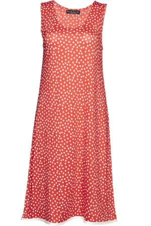 Alice Dress red dot, white U/Æ