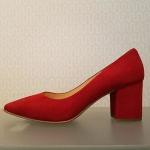 Jill sko Suede Red