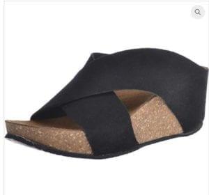 Franches sandal black suede