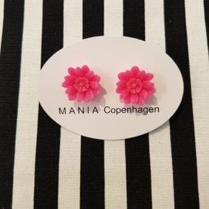 MANIA Blomster ørestikker Pink