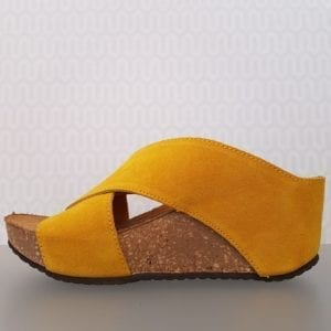 Franches sandal yellow suede