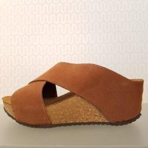 Franches sandal cognac suede