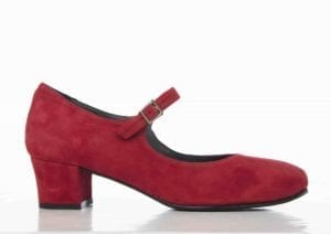 Asta 14 shoe red suede