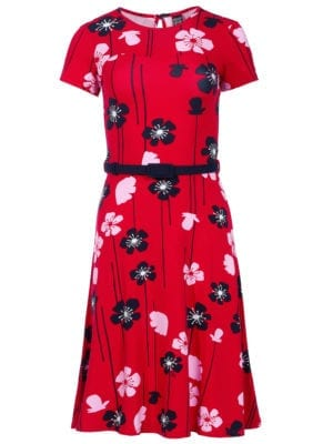 Beth dress red poppies