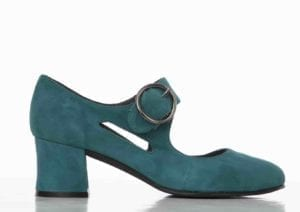 Frida 9 shoe teal suede