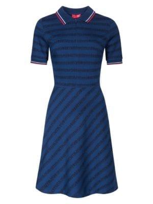 Wtg Queuing dress blue