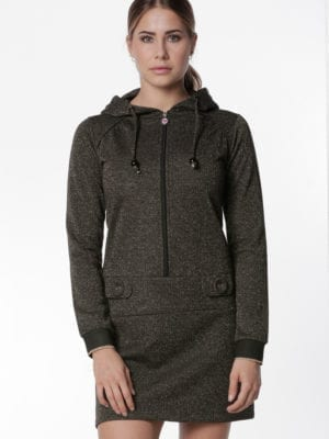 Why it´s Renee hoodie dress, Gold glitter