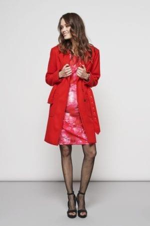 Madeline coat, red