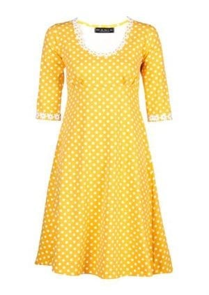 Yvonne dress dot Yellow