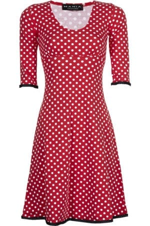 Stella dress dot Red/Black