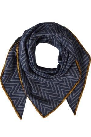 Tørklæde Zigge Navy/okker