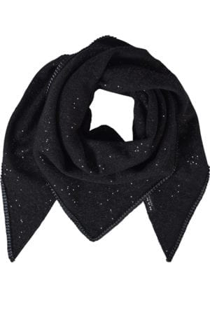 Tørklæde black wool sequin