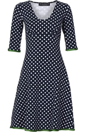 Stella dress dot navy/green