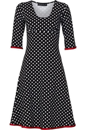Stella dress dot black/red