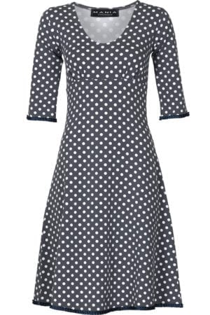 Stella dress dot Grey/navy